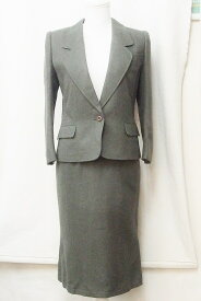 jun ashida ジュンアシダ ウール スカートスーツ セットアップ 7 モスグリーン系