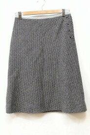 UNITED ARROWS ユナイテッドアローズ FACADE GREEN チェック ウールスカート 38 グレー/ホワイト
