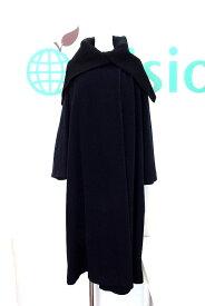 Y's ワイズ ビックカラー 異素材 ウール ロングコート レディース