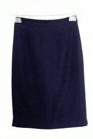 NOLLEY'S ノーリーズ sophi とろみ素材 タイトスカート 36 ネイビー