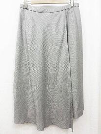 Leilian レリアン ウール×シルク フレアスカート 13+ 13+ グレー
