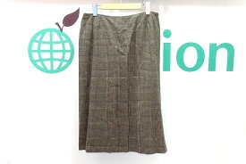MAX MARA マックスマーラ グレンチェック ウール ミモレ丈スカート 大きいサイズ I46