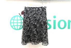 UNTITLED アンタイトル ダルメシアン セミフレアスカート 2 黒×ベージュ