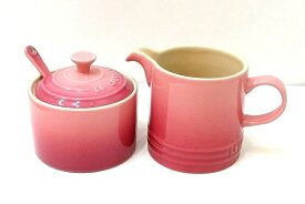 Le Creuset ル・クルーゼ クリーマー&シュガーポット スプーンセット ピンク