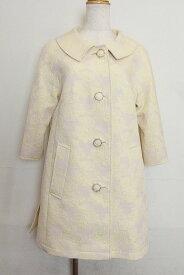 Peninsula ペニンシュラ custom tailor 七分袖 バラ柄 コート クリームイエロー系