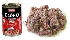 ■無添加ドッグフード・缶詰■アニモンダグランカルノシニア【牛肉と鶏肉と七面鳥の心臓】[400g]老犬用