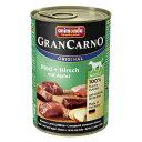 【ドイツ産ドッグフード】 アニモンダ グランカルノ ミックス【牛肉と鹿肉】成犬用 (ウェットタイプ 缶詰)[400g] | animonda | dog visions