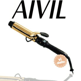 アイビル D2アイロン ゴールドバレル 38mm(正規品 AIVIL カールアイロン コテ 美容室 美容専売品 ロングセラー カール 巻き髪 DH CERAMIC IRON)