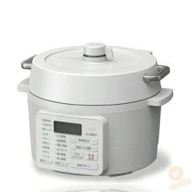 電気圧力鍋 2.2L ホワイト (電気 圧力 炊飯 炊飯器 保温 一人暮らし グリル鍋 おしゃれ レシピ付 自動メニュー アイリスオーヤマ)