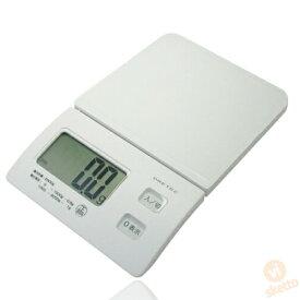 ドリテック スリムスケール KS-226WT (ホワイト 2kg 電子スケール 計り 料理 おかし作り 単四電池使用 )