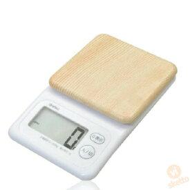 ドリテック 木目調スリムスケール KS-276 (木目調 高級 2kg 電子スケール デジタル 計り 料理 おかし作り 単四電池使用 )