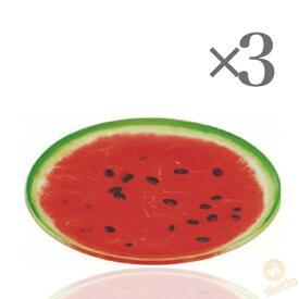[3枚SET] フルーツプレート ≪すいか≫ (FRUIT PLATE watermelon 輪切り 果物 インスタ映え 夏 盛り合わせ 皿)
