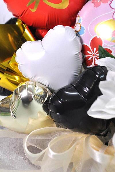 長寿祝い金の鶴バルーンアレンジメント/賀寿敬老の日お年寄り還暦緑寿古希喜寿傘寿米寿卒寿白寿百寿