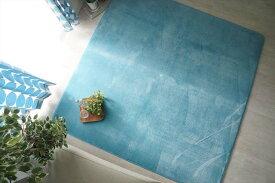 ウレタンラグ 洗える 洗濯できる さらさら無地のフランネルラグ 約190x190cm ノーマルタイプ
