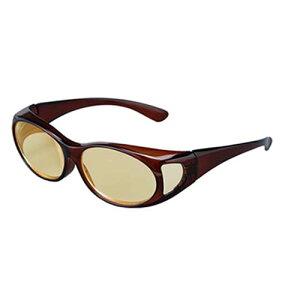 ブルーライトカット 1.8倍拡大鏡 眼鏡タイプ拡大鏡 メガネ オーバーグラスルーペ ブルーシールド PC作業 スマホ 紫外線カット UVカット