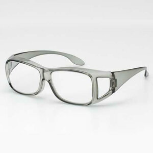 高倍率メガネタイプ拡大鏡 1.8倍 メガネ型ルーペ 手元 拡大 グレー