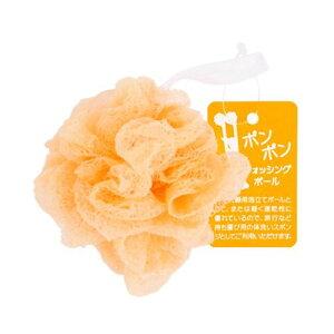 ポンポンウォッシングボール オレンジ 12個入り 洗顔用泡立てネット