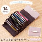 じゃばら式カードケース(オーロラピンク)【クリックポスト】