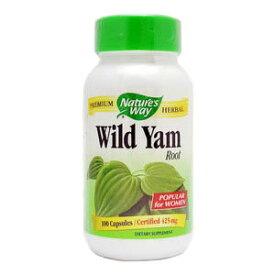 ネイチャーズウェイ(Nature's Way) ワイルドヤム(WILD YAM) 100粒1粒に濃縮ワイルドヤムが425mg!かんたん山芋(ヤマイモ、やまいも)ダイエット。バストアップやPMSに。女性の味方サプリメント(サプリ)