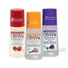 クリスタルエッセンス 直塗りタイプ(ロールオン) 選べる3種のアロマの香り 各66mlアルミニウムフリーの安心デオドラント。1日1回でさらさらワキ(脇)をキープ。パラベンフリー、天然素材(ミョウバン)。男女兼用(男性用、女性用、メンズ、レディース)制汗剤