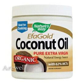 オーガニック ココナッツオイル ピュア エキストラ バージン ココナッツオイル 480ml×2本良質の中鎖脂肪酸が豊富!美容、手作りコスメや料理にもつかえる♪ 中鎖脂肪酸65%含有Nature's Way / ネイチャーズウェイ