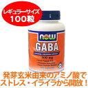ストレス・イライラをリラックス 発芽玄米に含まれる注目のアミノ酸 ギャバ プラス ビタミンB6 100カプセル
