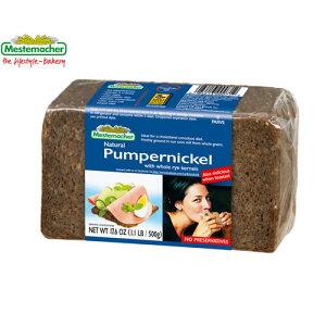 メステマッハー プンパーニッケル 500g オーガニック有機ライ麦使用 保存料無添加 グルテンフリーグルテンフリーのドイツパン(ライ麦パン)は低糖質ダイエットに最適!歯ごたえたっぷり