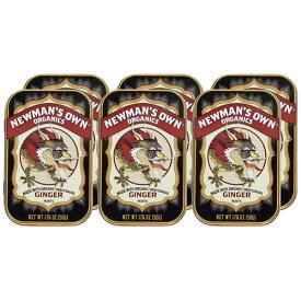 Newman-O's オーガニック ジンジャーミント6缶 人工保存料 着色料 香料不使用オーガニック シュガーを使った安全で安心な口臭清涼剤 有機 ジンジャーミント 清涼菓子ポールニューマンが愛したオーガニック ミントで作ったミントタブレット 缶入りでプレゼントにも◎