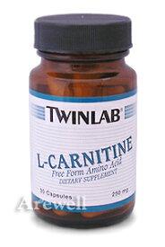 【ツインラボ社製】 カルシウムをバランスよく含んだカルニチン【お徳用】L-カルニチン 250mg 90カプセル