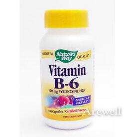 ★補給が必要 水溶性ビタミンBビタミンB6(ピリドキシン) 100カプセルNature's Way / ネイチャーズウェイ