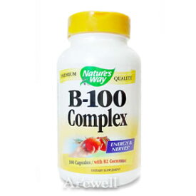 ビタミンB100コンプレックス 100カプセル★ビタミンBをバランスよく配合!【お徳用】ビタミンB100コンプレックス 100カプセルNature's Way / ネイチャーズウェイ