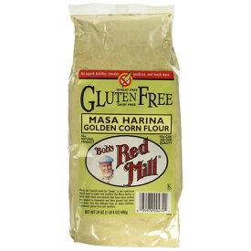 グルテンフリーとうもろこし粉 680g Bob's Red Mill社(ボブズレッドミル)石臼で丁寧に挽いたトウモロコシフラワートルティーヤ、タマリ、ポレンタ、パン作りにも◎Gluten Free Corn Flour Golden Masa