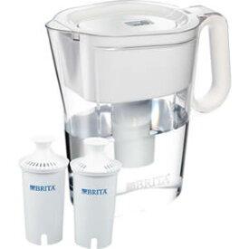 ブリタ(BRITA) クラシック 浄水ポット (約3リットル/コップ10杯分)浄水ピッチャー本体×1個にクラシックカートリッジ×2本付き蛇口に付ける浄水器より簡単に水道水を浄化。交換用フィルター(カートリッジ)2本付き(1本約2カ月)卓上ポット型浄水器 水差し