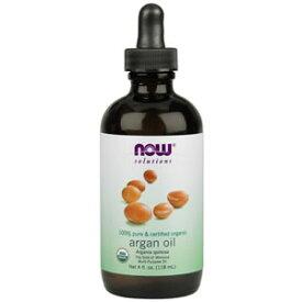 オーガニック アルガンオイル118ml×3本100%ピュアのオーガニックモロッコアルガンオイル椿油では重い、杏とホホバ油では軽いという方に特におススメハンドクリーム、ヘアケア、ボディーオイルとしても使える万能オイルnow foods(ナウフーズ社)