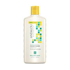 アンダルー・ナチュラルズ(ANDALOU NATURALS) SCブリリアントシャインコンディショナー 340mlフルーツ幹細胞エキスにボタニカル成分をブレンド。高い保湿力があるマルメロとビタミンが豊富な植物オイルブレンドが輝くツヤ髪に。シトラスベースの香りのコンディショナー