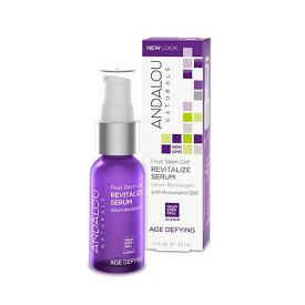 アンダルー・ナチュラルズ(ANDALOU NATURALS) エイジ ディファイング フルーツステムセル リバイタライズセラム 32ml肌のハリをサポートするフルーツ幹細胞、レスベラトール、コエンザイムQ10で肌を集中的に引き締め、より輝きのあるなめらかな肌を作る保湿美容液。