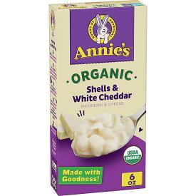 オーガニック マカロニ&チーズ シェルとホワイトチェダー170 g アニーズUSDA認証オーガニックシェル型パスタと、オーガニックチェダーチーズのハーモニー合成香料 合成着色料 保存料無添加MAC & CHEESE: マッケンチーズオーガニック食品といえばアーウェル