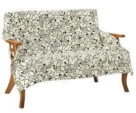 マルチカバー 正方形 200×200cm 北欧 Vita home ブルージュ ホワイト 綿100% 日本製