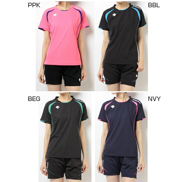 デサント DESCENTE レディース 半袖Tシャツ ウェア ライトゲームシャツ DSS-5421W