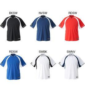 デサント DESCENTE メンズ 2ボタンベースボールシャツ レギュラーシルエット 半袖Tシャツ 半袖 野球 練習着 DB-103B