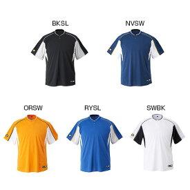 デサント DESCENTE メンズ 2ボタンベースボールシャツ レギュラーシルエット 野球ウェア 練習着 半袖 DB-104B
