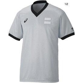アシックス asics メンズ レフリーシャツ Vネック バスケットボールウェア 審判シャツ 半袖 JBA XB8003
