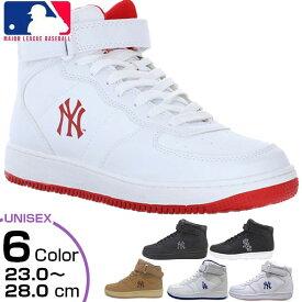 メジャーリーグベースボール MLB メンズ レディース ジュニア ニューヨークヤンキース NY LA スニーカー シューズ ハイカット MLB-2011