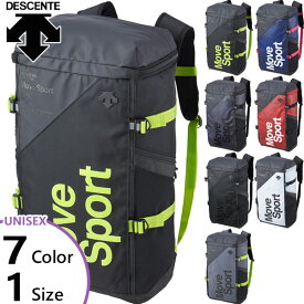 【送料無料】 【4月上旬入荷予約商品】 40L デサント DESCENTE メンズ レディース スクエアバッグL リュックサック デイパック バックパック バッグ 鞄 DMAPJA05