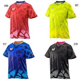 バタフライ メンズ レディース ネストン シャツ ゲームシャツ 半袖 卓球ウェア トップス 送料無料 Butterfly 45800
