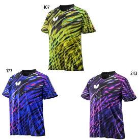 バタフライ メンズ レディース レオニール シャツ ゲームシャツ 半袖 卓球ウェア トップス 送料無料 Butterfly 45810