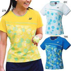 ヨネックス レディース ゲームシャツ テニス バドミントンウェア トップス 半袖 UVカット 吸汗速乾 制電 送料無料 YONEX 20620