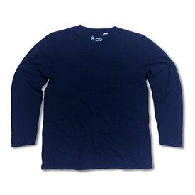 Ron Herman (ロンハーマン)オリジナルブランド: 8100 ダメージ加工 ロングスリーブTシャツ ネイビー