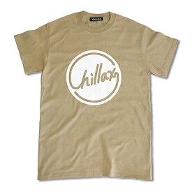 RHC Ron Herman (ロンハーマン): Chillax Circle ロゴ Tシャツ(ベージュ/ホワイト)