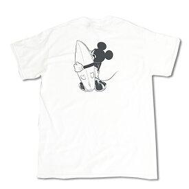 Chillax×Disney Mickey(ディズニー)サーファー ミッキーマウス バックプリント Tシャツ